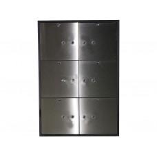 DB-6S DGL Блок депозитных ячеек  (Нержавеющая сталь)